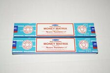 Newest! Satya MONEY MATRIX Nag Champa Incense TWO boxes 30g *Free Shipping*