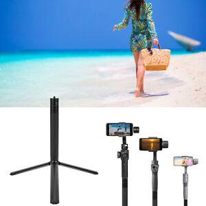 Portable 1/4in Screw Metal Light Stand Desktop Tripod Extension Rod Selfie Black
