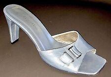 Calvin Klein 'ANDL-LEA' High Heel Kid Leather Slide 813738 $390 Titanium 7M