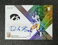 2017 ELITE DP DESMOND KING ROOKIE GOLD ASPIRATIONS AUTO  #'d 2/10