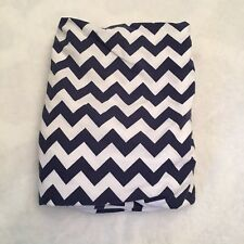Pottery Barn Kids Blue White Chevron Organic Cotton Crib Toddler Bed Sheet