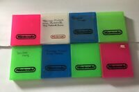 Lot Of 8 Nintendo NES Hard Plastic Clam Shells Cases OEM Multi Colours