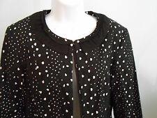 ERIC Signature Womens Jacket Blazer Blk White 100% Cotton Lined NWT$300 Size 12