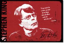 """Stephen King ART PRINT PHOTO POSTER CADEAU """"écrivain citation"""""""