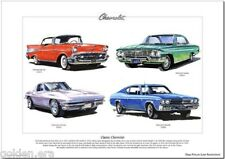 CLASSIC CHEVROLET - Stampa artistica - Bel Aria, Impala, Corvette & Chevelle