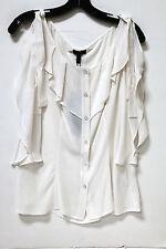 943dc2898f377 Escada Neiman Marcus Ivory Silk Boho Split Sleeve Blouse Sz 38 6 FS