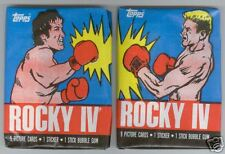 Two Variations.. 1985 Topps ROCKY IV Unopened Wax Packs