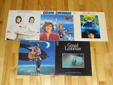 GERARD LENORMAN 5 LP LOT ALBUM VINYL COLLECTION Records Droles/D'amour/Soleil+