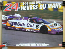Affiche  24 HEURES DU MANS 1987  JAGUAR   Sport  Auto Car Auto  Poster  Course