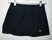 Abercrombie Kids Girls Size XL Dark Blue Lined Lace Elastic Back Mini Skirt