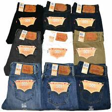 Levis 501 Jeans Button Fly Mens Denim Stonewashed W30 W32 W34 W36 W38