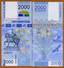 Kyrgyzstan, 2000 Som, 2017, P-New, Commemorative, UNC