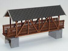 TT Modelltec /IGRA 60 1200 19: Lasercutbausatz einer alten Holzbrücke