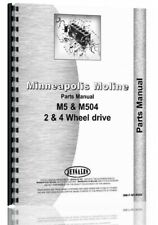 Minneapolis Moline M5 M504 R2020b Tractor Parts Manual Catalog