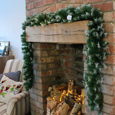 Samuel Alexander 9ft 270cm X 25cm Snow Tipped Green Christmas Garland Decoration