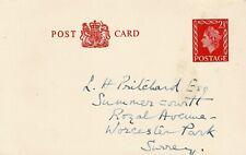 GREAT BRITAIN - QEII 2 1/2d POSTAL STATIONERY POSTCARD - USED - W 191