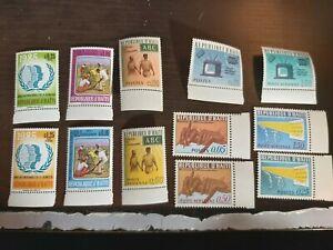 Lot Of Postage Stamps From Republique D' Haiti