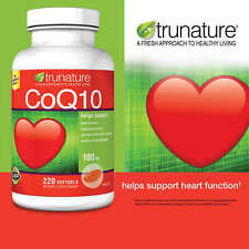 220 Trunature CoQ10 100mg Coenzyme Q-10 Heart Antioxidant 220 Softgels SHIP FAST