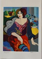 "Patricia Govezensky ""Margo"" Hand Signed Numbered Serigraph Modern Figurative Art"