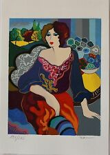 "Patricia Govezensky ""Margo"" Hand Signed Numbered Serigraph Modern Figurative Art"
