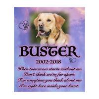 Pet Memorial Personalised Photo Dog Poem Plaque Bereavement Sympathy Poem Sign