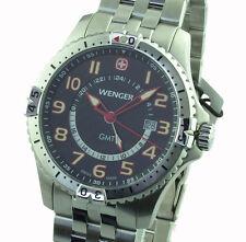 Wenger señores reloj 77060 Squadron gmt swiss made zafiro vidrio nuevo embalaje original