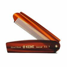 Kent 82T Folding Mens Comb 200mm Pocket Fine Tooth Luxury HAND MADE Ideal Gift!