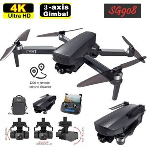 SG908 5G WIFI FPV GPS Brushless Drone 4K 3-Axis Gimbal RC Quadcopter with Camera