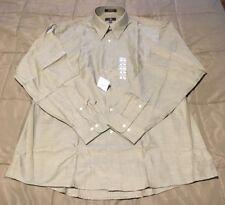 Mens Calvin Klein Long Sleeve Button Up Shirt~Sz L 16 1/2 34x35~NWT