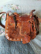 Western Arrow Design Faux Leather Saddlebag Purse