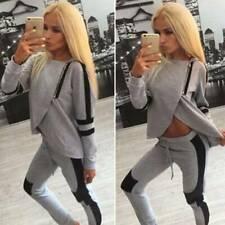 Damen Trainingsanzug Hausanzug Teilt Sweatshirt Hose Fitness Sport Jogginganzug