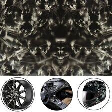 Amazing Black Skulls Hydrographic Water Transfer Hydro Dipping DIP Print Film /