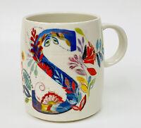 Anthropologie Monogram S Initial Petal Palette Coffee Mug Starla M Halfmann