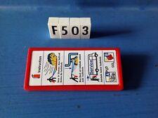 (F503) playmobil panneau pancarte pompier hôpital police