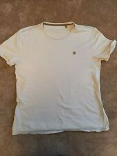 Mens Fat Face cream t-shirt size Large