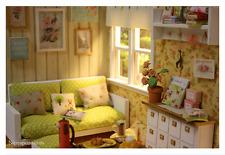 "OOAK Nerea Pozo Keera ""SHABBY SUNSHINE Living Room"" Diorama"
