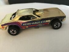 Hot Wheels Blackwall Gold Chrome Hemi Hauler Barracuda Drag Strip Funny Car.