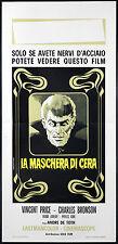 CINEMA-locandina LA MASCHERA DI CERA price, bronson, lovejoy, DE TOTH