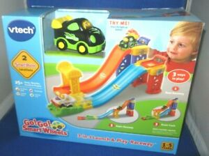 VTECH GO GO SMART WHEELS 3-IN-1 LAUNCH & PLAY RACEWAY WITH RACE CAR 1-5YEARS,