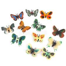 12pc Plastic Butterfly Bug Insect Animal Figures Kids Party Bag Fillers Toy