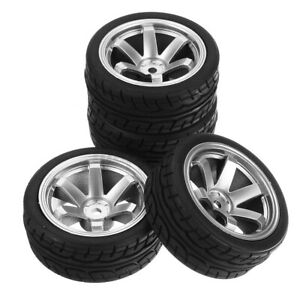 4 PCS/Set For 1:10 On Road Racing Touring Car RC Tires and Wheels Rim 12mm  ۵