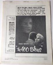 The 400 Blows. Movie Press Book, Francois Truffaut, 1959