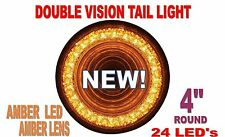 "24 LED 4"" ""MIRAGE"" STOP, TURN & TAIL LIGHT - AMBER/AMBER"
