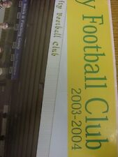 """2003/2004 Norwich City: Team Group Poster, Large 24""""x 16"""" Colour Image (folded)."""