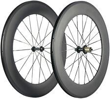 Full Carbon Fiber Wheels Road Bike Clincher 23mm Width 88mm Depth Bicycle Wheels