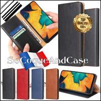 Etui coque housse Cuir PU Qualité Wallet Case Samsung Galaxy A20 A30 A40 A70