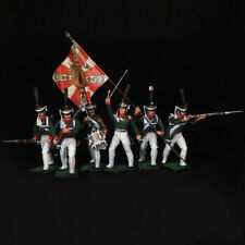 Tin soldier, Set of Preobrazhensky Life Guards Regiment (6 miniatures) 54 mm