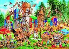 GIBSONS JIGSAW PUZZLE THE OTHER..BRICKHENGE JOHN FRANCIS 1000 PCS #G7057 CARTOON