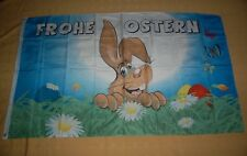 Frohe Ostern Osterhase Eier Osterflagge Flagge Fahne Hißflagge 150 x 90 cm
