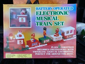 1985 Battery Operated Electronic Musical Christmas Train Set